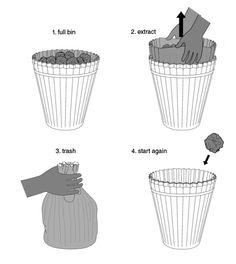 Waste Paper Bin : Emanuele Pizzolorusso