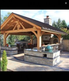 Have Many Trouble in Indoor Kitchen? Install The Outdoor One! Find other ideas: DIY Outdoor Kitchen And Pool Layout Outdoor Kitchen and Pergola Ideas Rustic Outdoor Kitchen On A Budget Small Outdoor Kitchen Patio On Deck Outdoor Kitchen Covered Design Rustic Outdoor Kitchens, Outdoor Kitchen Countertops, Outdoor Kitchen Design, Outdoor Rooms, Patio Design, Outdoor Living, Granite Countertop, Backyard Designs, Backyard Ideas