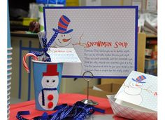 Snowman party for second grade @Heather Haney