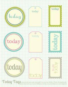 """Today"" Printables at Write. Click. Scrapbook"