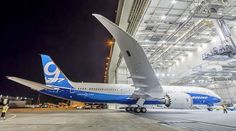 The first Boeing 787-9 is rolled out of the paint hangar at Paine Field - Boeing photo