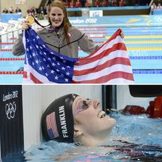 Missy Franklin--teen age gold!!  Embedded image permalink
