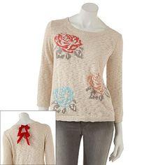 LC Lauren Conrad Rose Sweater