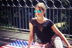 Polarisierte Aviator Sonnenbrille und USA Strandtuch zu finden in unserem Onlineshop unter https://www.stylebreaker.de