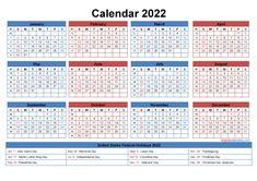 Downloadable Calendars 2022 Yearly Calendar Template, Make A Calendar, Calendar Layout, Monthly Planner Printable, School Calendar, Free Printable Calendar, Kids Calendar, 2021 Calendar, Templates Printable Free