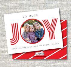 Joy Holiday Card: Christmas Card Holiday Hugs by CJANEdesignshop