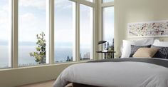 Milgard's standard aluminum casement window provides excellent ventilation, has no rail to obstruct views and puts the screen on the inside where i