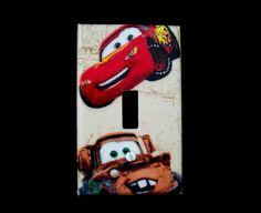 Light Switch Plate Cover Disney Cars Lightning McQueen Mater Boys Room Childrens Decor on Etsy, $10.00