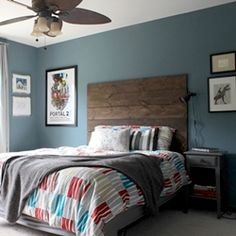 Tour a tween boy's room makeover, in a rustic-industrial style, with lots of budget-minded DIY projects.