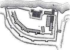 1217 Atlitt, The castle of 'Atlit (Chateau Pelerin) was