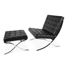 Barcelona chair and ottoman SET