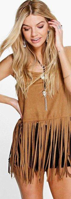 Scarlet Tassel Suedette Cami - Tops  - Street Style, Fashion Looks And Outfit Ideas For Spring And Summer 2017