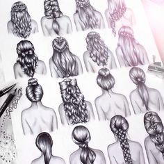 desenhos cabelos tumblr - Pesquisa Google