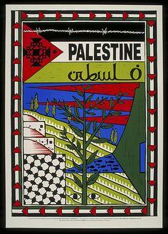 Poster palestina contra el sionismo contra los carteles palestinos Alzi alestine Israel