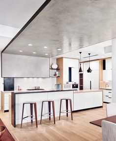 """30fb61bb61a61 Interior Design HOMES on Instagram  """"Subtle details abound in an Austin  apartment by  fkarchitects and  pagethink. In the kitchen"""