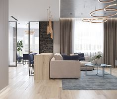First Class Family Home With Blue, Pink And Gold Decor Contemporary Interior Design, Modern Interior, Living Room Modern, Living Room Decor, Pink Bedrooms, Sofa Upholstery, Small Rooms, Apartment Design, House Design
