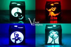 Nightmare Before Christmas inspired Color LED Lantern - Jack & Sally Box by VividDelights on Etsy https://www.etsy.com/listing/474667469/nightmare-before-christmas-inspired