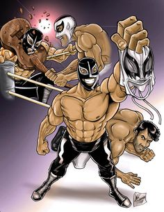 Rayo de Jalisco Mexican Style, Bowser, My Hero, Mexico, Wrestling, Superhero, Classic, Illustration, Fictional Characters