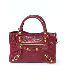 50dd1144bd5e BALENCIAGA Giant 12 Gold Mini City Handbag Bordeaux .  balenciaga  bags   canvas