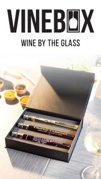 Wines picked just for you, and delivered to your door! Vinebox has single box and subscription plans available. Wines by the glass? Yes, please!!