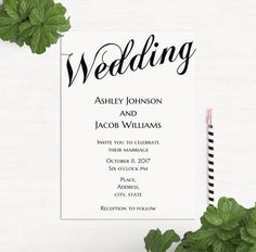 Items similar to Simple wedding invitation template Minimalist wedding invitation Classic wedding invitation printable Black and white wedding invitation on Etsy Black And White Wedding Invitations, Minimalist Wedding Invitations, Classic Wedding Invitations, Printable Wedding Invitations, Simple Weddings, Reception, Marriage, Place Card Holders, Printables