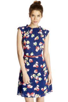 Deco Tulip Dress | Multi | Oasis Stores