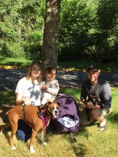 Another happily ever after to share, this is Lola3 with her new family Alex, Lauren, Landon, Kyla & fur brother Touque. Their immediate connection was so sweet to watch, just like it was meant to be! Now Lola3 can cuddle with her new big brother and little sister, & lead the active life that she was meant to enjoy with Lauren & Alex. Thank you so much for adopting! Special thanks to foster Katie M. Brown-Bergen & her family, & to our adoption team for finding the most perfect place for her