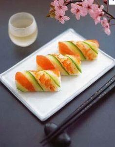 Traditional Japanese Sushi Rolls