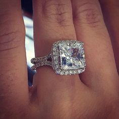 Engagement Ring etiquette: what is acceptable and what is not when your human friend or acquaintance announces their engagement; engagement ring etiquette for the non-betrothed Engagement Ring Etiquette, Square Halo Engagement Rings, Princess Cut Engagement Rings, Beautiful Engagement Rings, Halo Diamond Engagement Ring, Beautiful Rings, Solitaire Rings, Oval Engagement, Princess Wedding