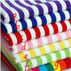 165cm width stretchy stripe cotton knitted fabric by half meter DIY elastic Lycra cotton shirt baby clothing making fabric #Affiliate