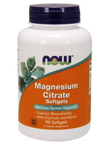 NOW- Magnesium Citrate 90 softgels