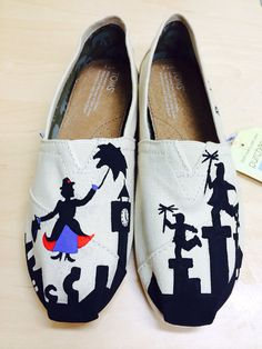 Mary Poppins TOMS by AdrienneThompsonArt on Etsy