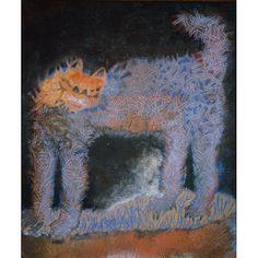 Francisco Toledo, El gato enojado, 1975, Mexico.