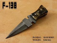 3.6 inch Pocket Knife Ram Horn Handle