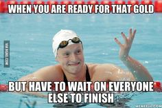 Ledominate ledecky - swimming funny, i love swimming, swimming tips, s Swimming Funny, Swimming Memes, I Love Swimming, Swimming Tips, Swim Team Quotes, Swimmer Quotes, Swimming Motivation, Diving Springboard, Swimmer Problems