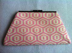 Ladies Clutch Cotton Pink Cream