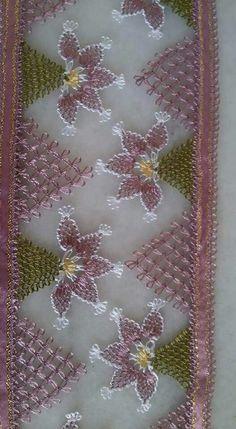 çiçekli iğne oyası havlu kenarları (20)