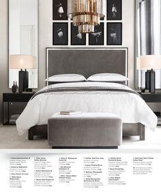 RH Source Books *Love the mirrors* - Dom jest tam gdzie twoje serce - Bedding Master Bedroom Bedroom Black, Bedroom Green, Bedroom Colors, Master Bedroom, Bedroom Dressers, Bedroom Furniture, Bedroom Decor, Bedroom Lighting, White Dressers