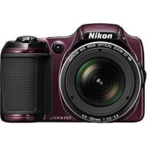 Nikon - Coolpix L820 16.0-Megapixel Digital Camera - Plum