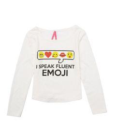 Look what I found on #zulily! Beige 'Fluent Emoji' Scoop Neck Tee - Girls #zulilyfinds