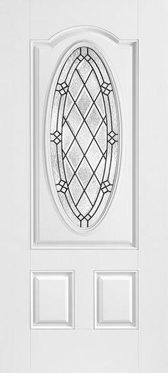 Masonite - HD Steel Door with Alston™ glass in oval shape