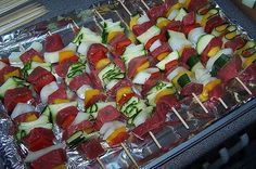 Shish kabobs in oven