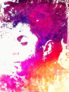 Prince Poster featuring the painting Prince Art Purple Rain by Justyna JBJart
