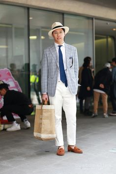 Korean street fashion with check pattern #OOTD #seoulfashionweek #DDP