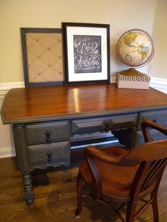 Beautifully redone desk and chair