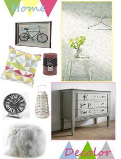 Inspiracje dla pięknego domu: kolaż konkursowy z produktami ze sklepu Decolor.pl; autor: Kornelia Wasielewska