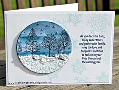 christmas cards with stampin up demo uk zoe tant lovely as a tree colourful season