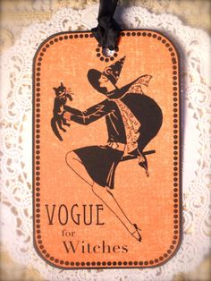 Vogue Witch Tag Vintage Halloween