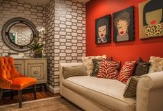 I LOVE wallpaper!  It creates instant design and interest to liven up a room!
