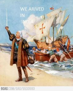 Christopher Columbus using Apple maps - FunSubstance Happy Columbus Day, Rage Faces, Indigenous Peoples Day, Calendar Activities, Historia Universal, Apple Maps, Cultura General, Troll Face, Conquistador